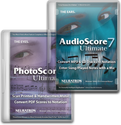 PhotoScore Ultimate 7 music scanning & AudioScore Ultimate 7 audio recognition